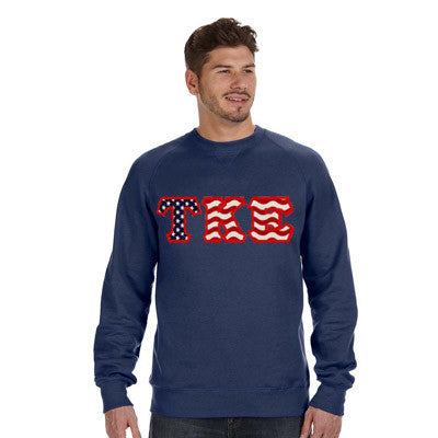 Stars & Stripes Fraternity Crewneck Sweatshirt - Gildan 18000 - TWILL