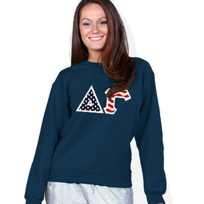 Stars & Stripes Sorority Crewneck Sweatshirt - Gildan 18000 - TWILL