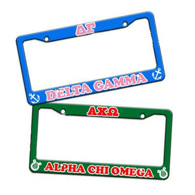 Sorority Custom License Plate Frame - U4567