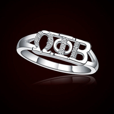 Omega Phi Beta Sorority Ring - GSTC-R001