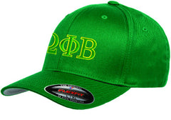Omega Phi Beta Flexfit Fitted Hat - Yupoong 6277 - EMB
