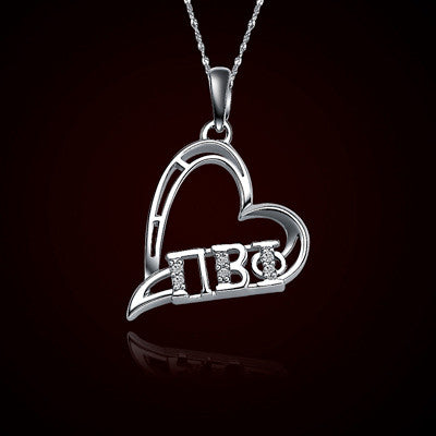 Pi Beta Phi Sorority Heart Charm - GSTC-HeartCharm