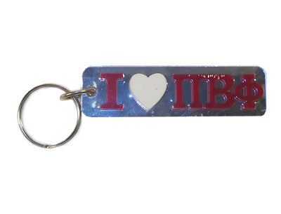 Pi Beta Phi I Love Keychain - Craftique cqMHK