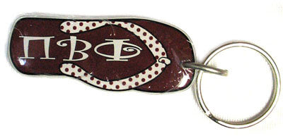 Pi Beta Phi Flip-Flop Keychain - Craftique FF-KC
