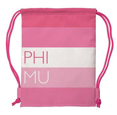 Phi Mu Drawstring Backpack - a1009