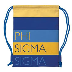 Phi Sigma Sigma Drawstring Backpack - a1009
