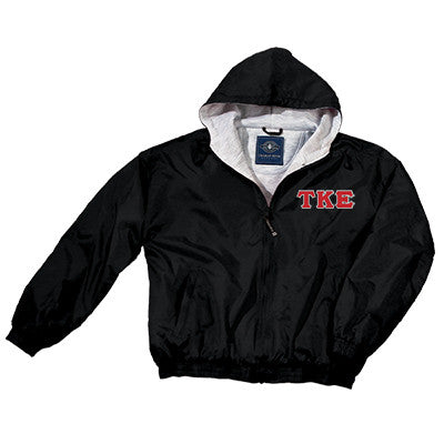 Tau Kappa Epsilon Greek Fleece Lined Full Zip Jacket w/ Hood - Charles River 9921 - TWILL