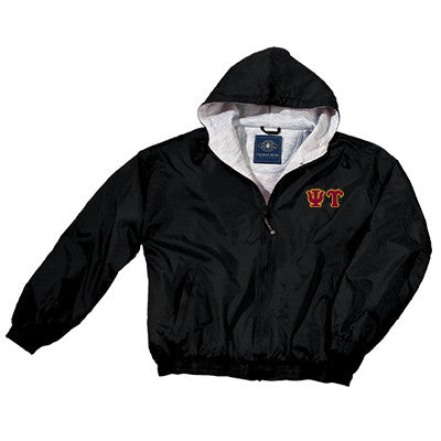 Psi Upsilon Greek Fleece Lined Full Zip Jacket w/ Hood - Charles River 9921 - TWILL