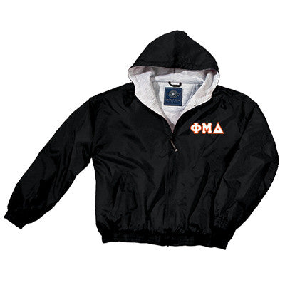 Phi Mu Delta Greek Fleece Lined Full Zip Jacket w/ Hood - Charles River 9921 - TWILL