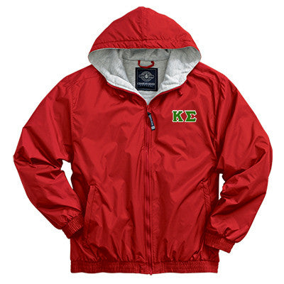 Kappa Sigma Greek Fleece Lined Full Zip Jacket w/ Hood - Charles River 9921 - TWILL