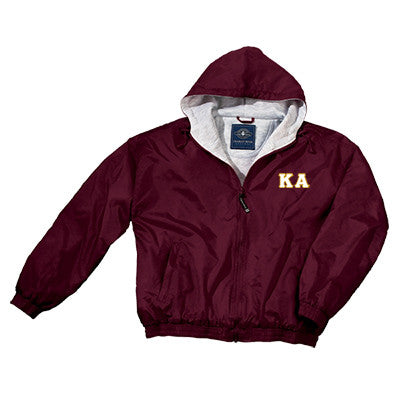 Kappa Alpha Greek Fleece Lined Full Zip Jacket w/ Hood - Charles River 9921 - TWILL