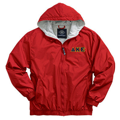 Delta Kappa Epsilon Greek Fleece Lined Full Zip Jacket w/ Hood - Charles River 9921 - TWILL