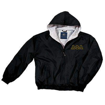 Alpha Phi Alpha Greek Fleece Lined Full Zip Jacket w/ Hood - Charles River 9921 - TWILL