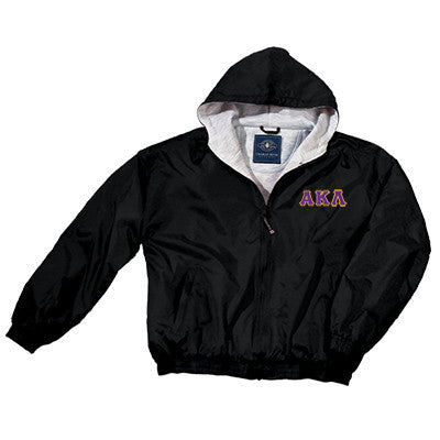 Alpha Kappa Lambda Greek Fleece Lined Full Zip Jacket w/ Hood - Charles River 9921 - TWILL