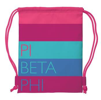 Pi Beta Phi Drawstring Backpack - a1009