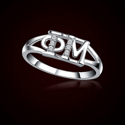 Phi Mu Sorority Ring - GSTC-R001