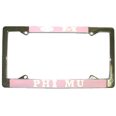 Phi Mu License Plate Frame - Rah Rah Co. rrc