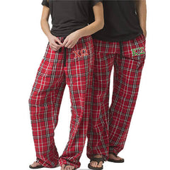 Fraternity and Sorority Lettered Unisex Flannel Pants with Pockets - Boxercraft F20 - EMB