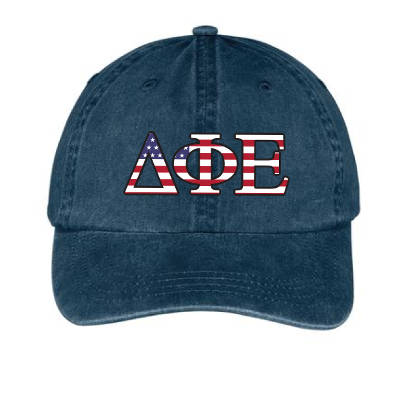 Greek Pigment-Dyed Patriotic Hat - Adams AD969 - DIG
