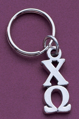 Sorority Pewter Key Ring - Campus ID cid852KEY