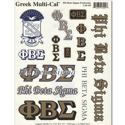 Phi Beta Sigma Multi-Cal Sticker