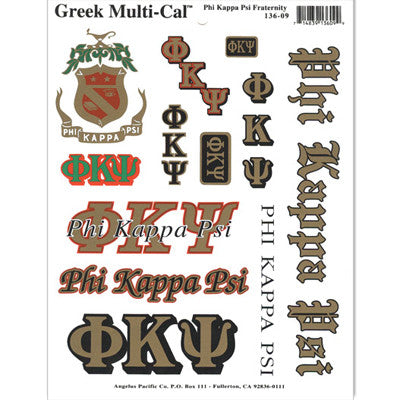 Phi Kappa Psi Multi-Cal Stickers
