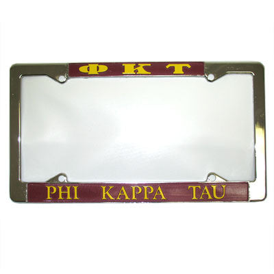 Phi Kappa Tau License Plate Frame - Rah Rah Co. rrc
