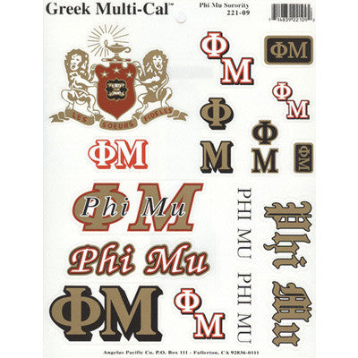 Phi Mu Multi-Cal Stickers