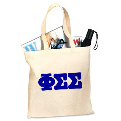 Phi Sigma Sigma Budget Tote Bag - Letter - 825 - CAD