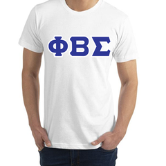 Phi Beta Sigma American Apparel Jersey Tee with Twill - American Apparel 2001W - TWILL