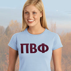 Pi Beta Phi Ladies' Softstyle Printed T-Shirt - Gildan 6400L - CAD