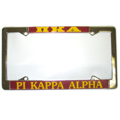 Pi Kappa Alpha License Plate Frame - Rah Rah Co. rrc