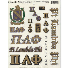 Pi Lambda Phi Multi-Cal Sticker
