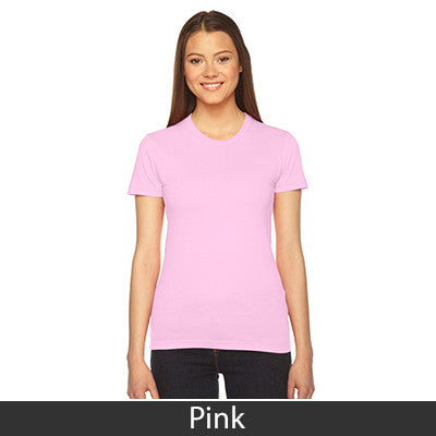 Phi Mu Embroidered Jersey Tee - American Apparel 2102 - EMB