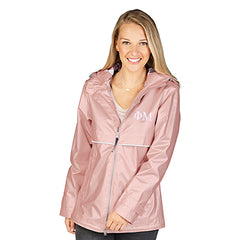 Sorority Rose Gold New Englander Rain Jacket - Charles River 5996 - EMB