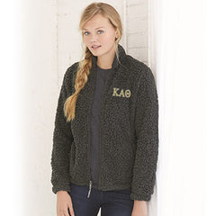 Greek Sorority Ladies Women Sherpa Full-zip Jacket - Boxercraft Q12 - EMB