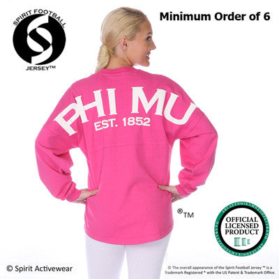 Sorority Spirit Football Jersey - Spirit J470 - SP
