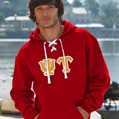 Psi Upsilon Hockey Hoody - J. America 8830 - TWILL