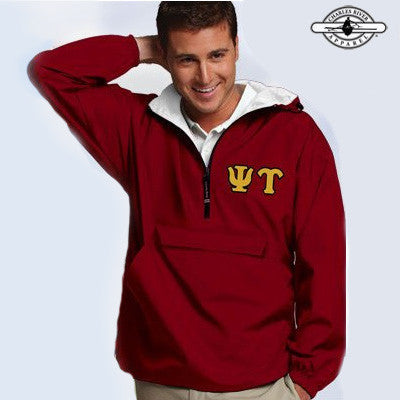 Psi Upsilon Pullover Jacket - Charles River 9905 - TWILL