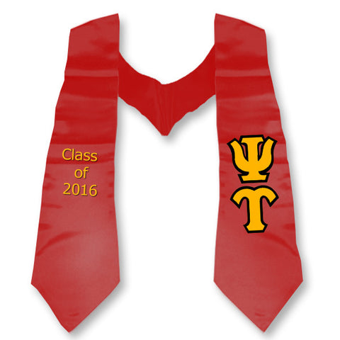 Psi Upsilon Graduation Stole with Twill Letters - TWILL