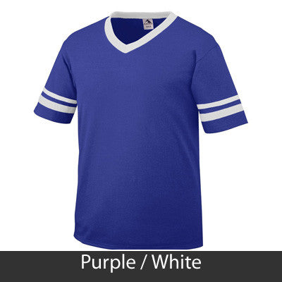 Zeta Phi Beta Striped Tee with Twill Letters - Augusta 360 - TWILL