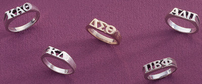 Sorority Block Letter Ring - Campus ID cidR09