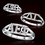 Sorority Ring with Stones - GSTC-R001