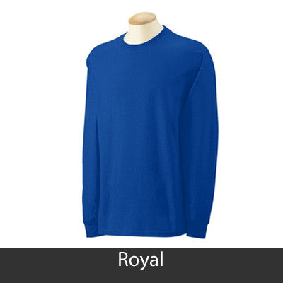 Sigma Gamma Rho Longsleeve T-Shirt with Twill - Gildan 2400 - TWILL