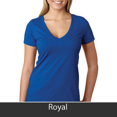 Zeta Phi Beta Deep V Sorority Printed Tee - Next Level 6640 - CAD