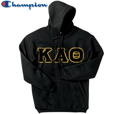 Kappa Alpha Theta Champion Hooded Sweatshirt - Champion S700 - TWILL