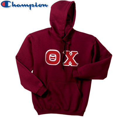 Theta Chi Champion Hooded Sweatshirt - Champion S700 - TWILL