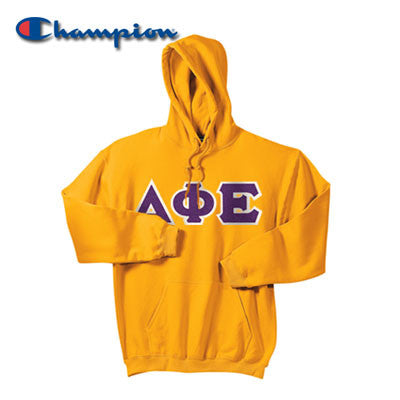 Sorority Champion 9oz Hooded Sweatshirt - Champion S700 - TWILL