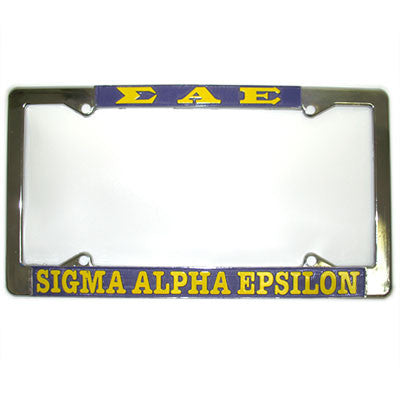 Sigma Alpha Epsilon License Plate Frame - Rah Rah Co. rrc