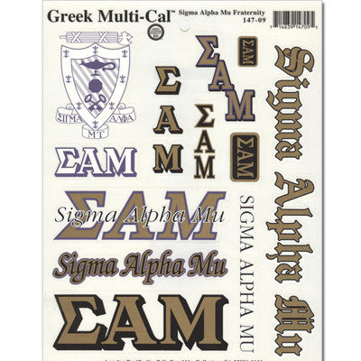 Sigma Alpha Mu Multi-Cal Sticker